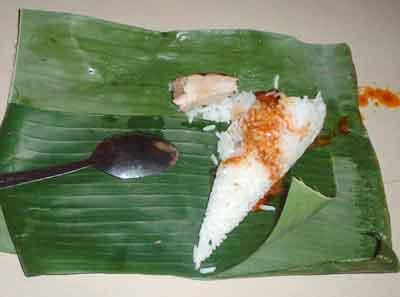 Nasi Dagang Bungkus daun Pisang
