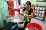 Grace making the Malacca bachang
